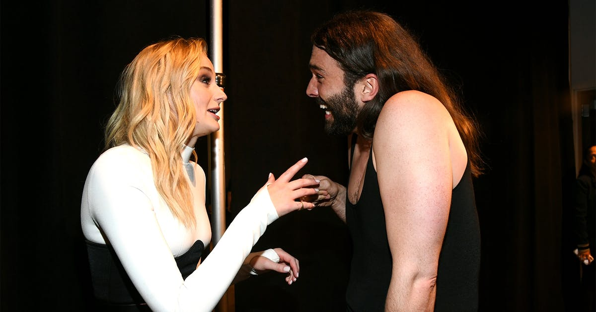 Sophie Turner's reaction to seeing Jonathan Van Ness in the flesh at the VMA's is so relatable