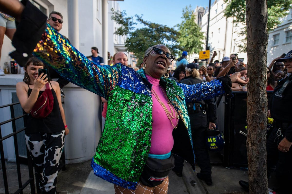 Colette Zacca dancing at Notting Hill Carnival