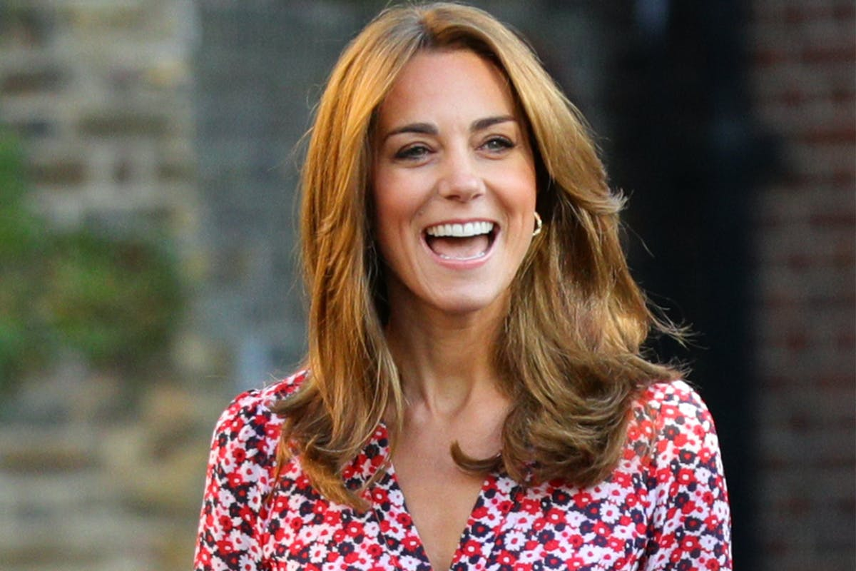 Kate Middleton's honey blonde hair