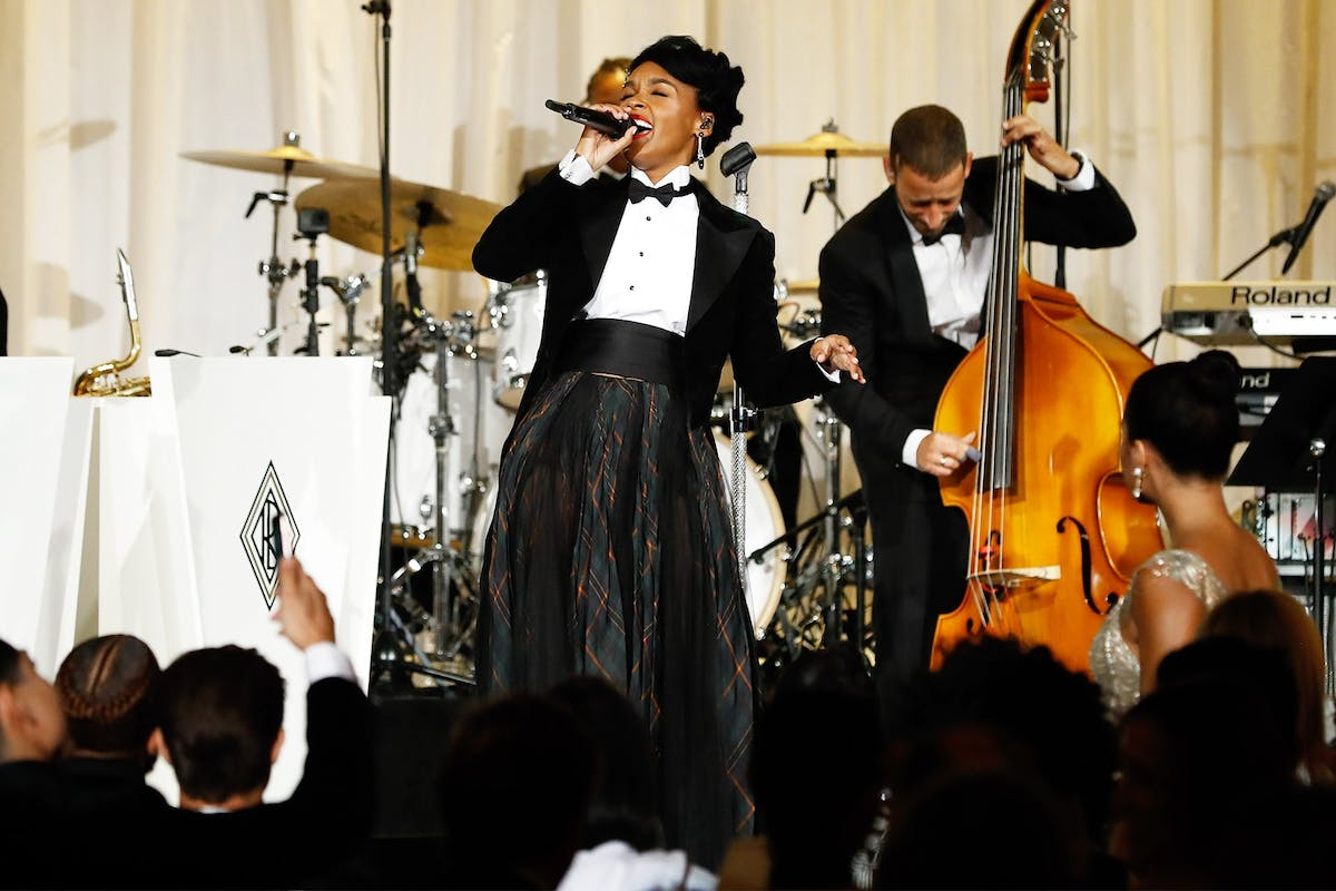 Janelle Monáe performing at Ralph Lauren at NYFW