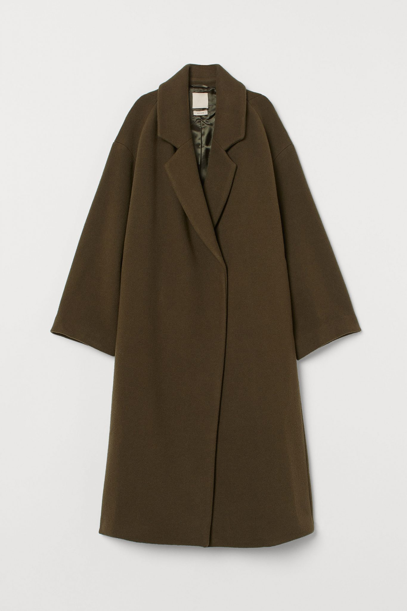 Topshop Funnel Relax Fit Military Belt Long Beige Trench Mac Over Coat  6 8 10