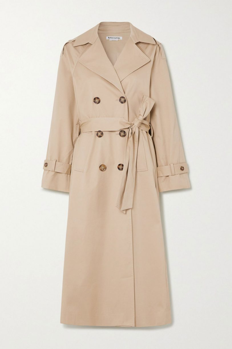 Ladies Trench Coat BROWN Classic Mid