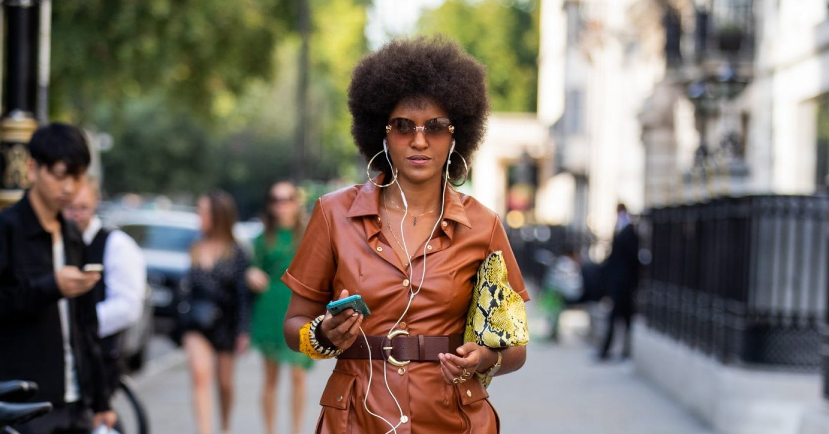 This leather dress is about to take over your Instagram feed in a big way