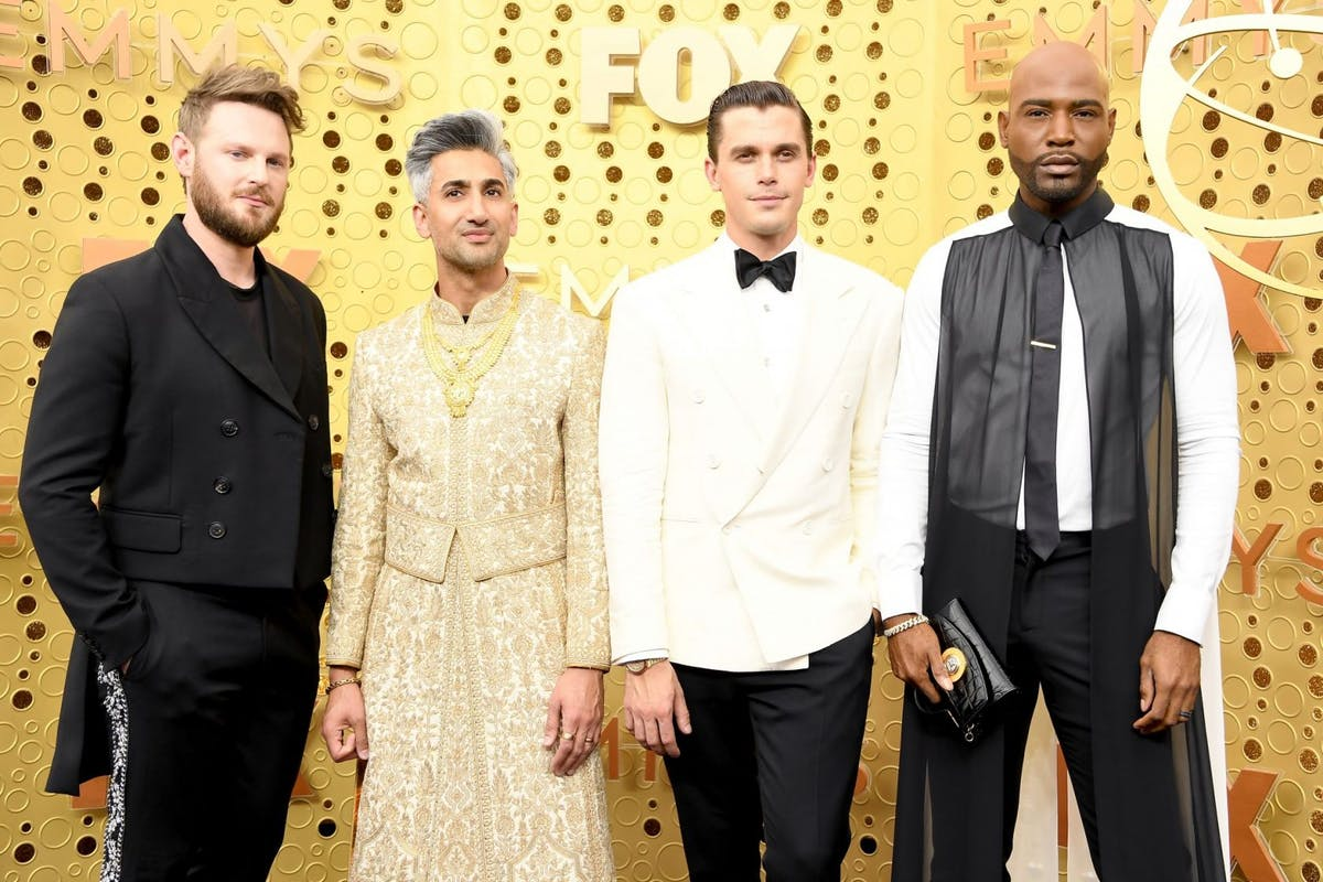 LOS ANGELES, CALIFORNIA - SEPTEMBER 22: (L-R) Bobby Berk, Tan France, Antoni Porowski, and Karamo Brown attend the 71st Emmy Awards at Microsoft Theater on September 22, 2019 in Los Angeles, California. (Photo by Steve Granitz/WireImage)