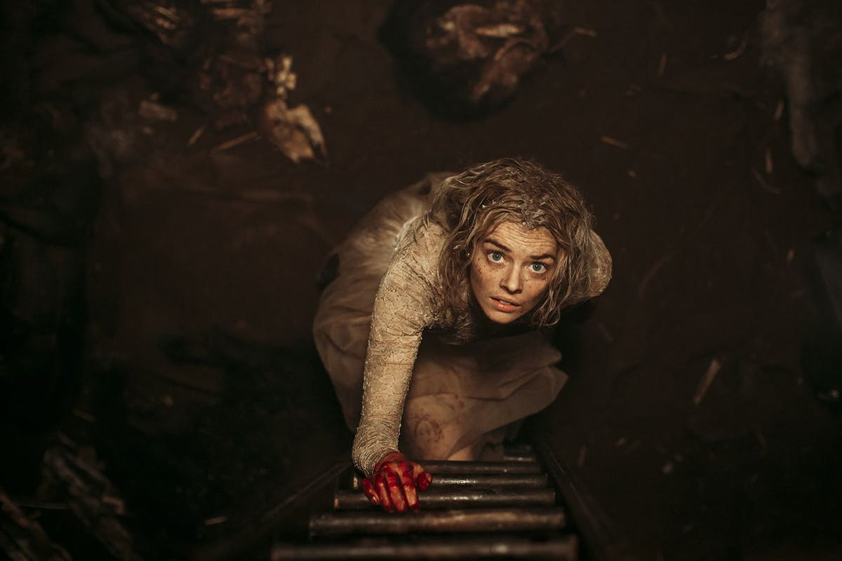 Samara Weaving in the film READY OR NOT. Photo by Eric Zachanowich. © 2019 Twentieth Century Fox Film Corporation All Rights Reserved