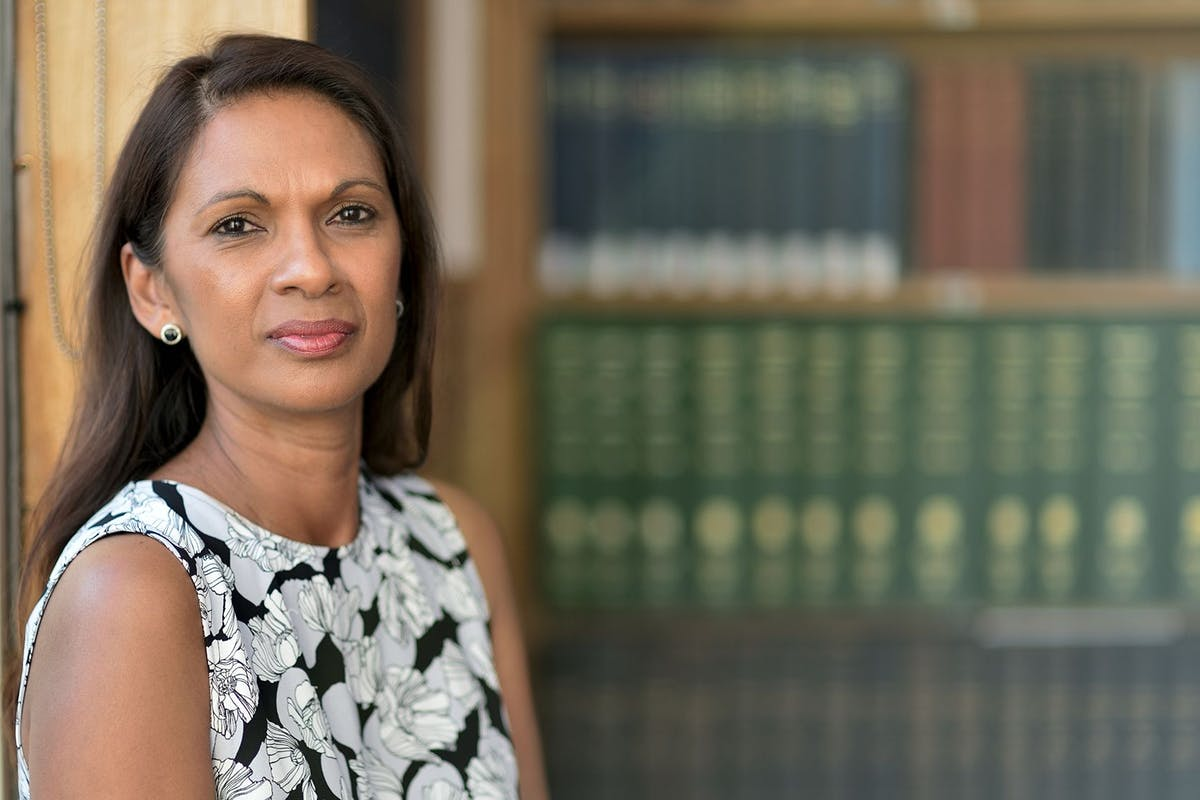 CAMBRIDGE, ENGLAND - JUNE 14: Portrait of Gina Miller Before addressing the Cambridge Union Society on June 14, 2017 in Cambridge, England. (Photo by Chris Williamson/Getty Images)