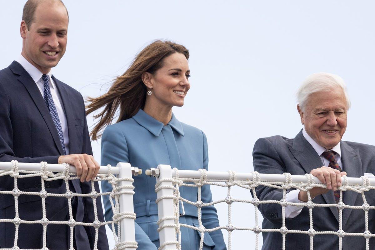 Kate Middleton and David Attenborough