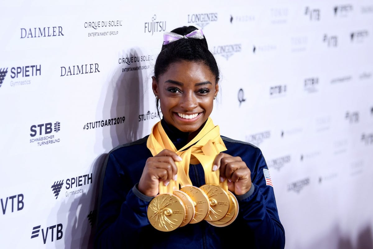 Simone Biles becomes the most decorated world championship gymnast