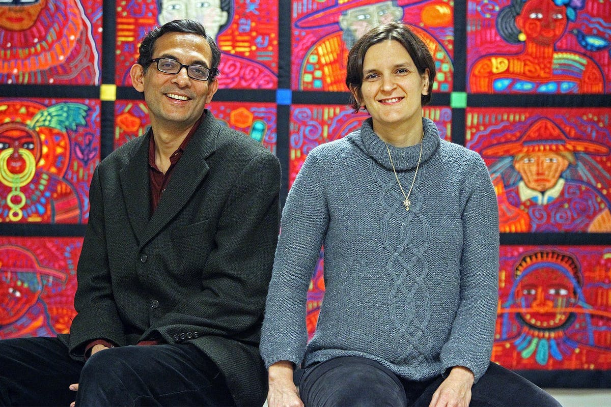 Nobel prize winners Esther Duflo and Abhijit Banerjee