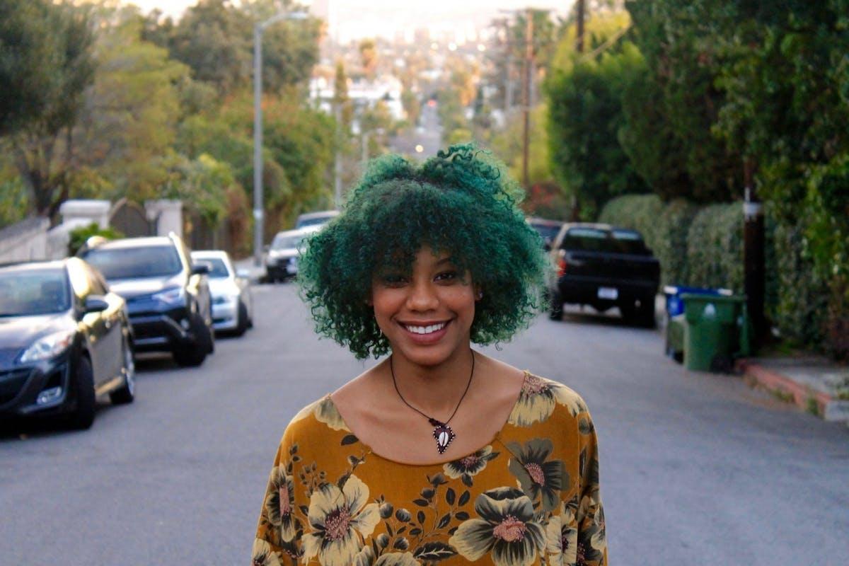Comedian Kemah bob smiling in the street