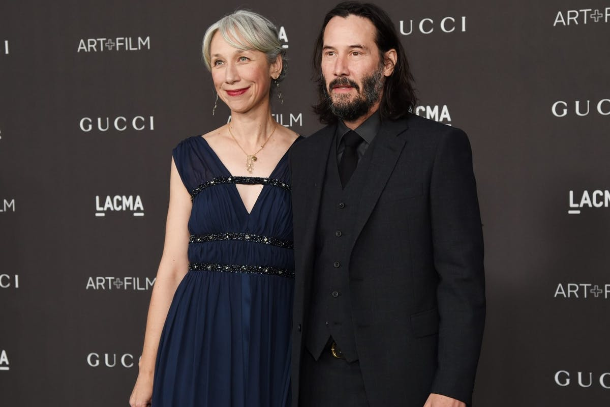 1185 LOS ANGELES, CALIFORNIA - NOVEMBER 02: (L-R) Alexandra Grant and Keanu Reeves attend the 2019 LACMA 2019 Art + Film Gala Presented By Gucci at LACMA on November 02, 2019 in Los Angeles, California. (Photo by Michael Kovac/Getty Images for LACMA)