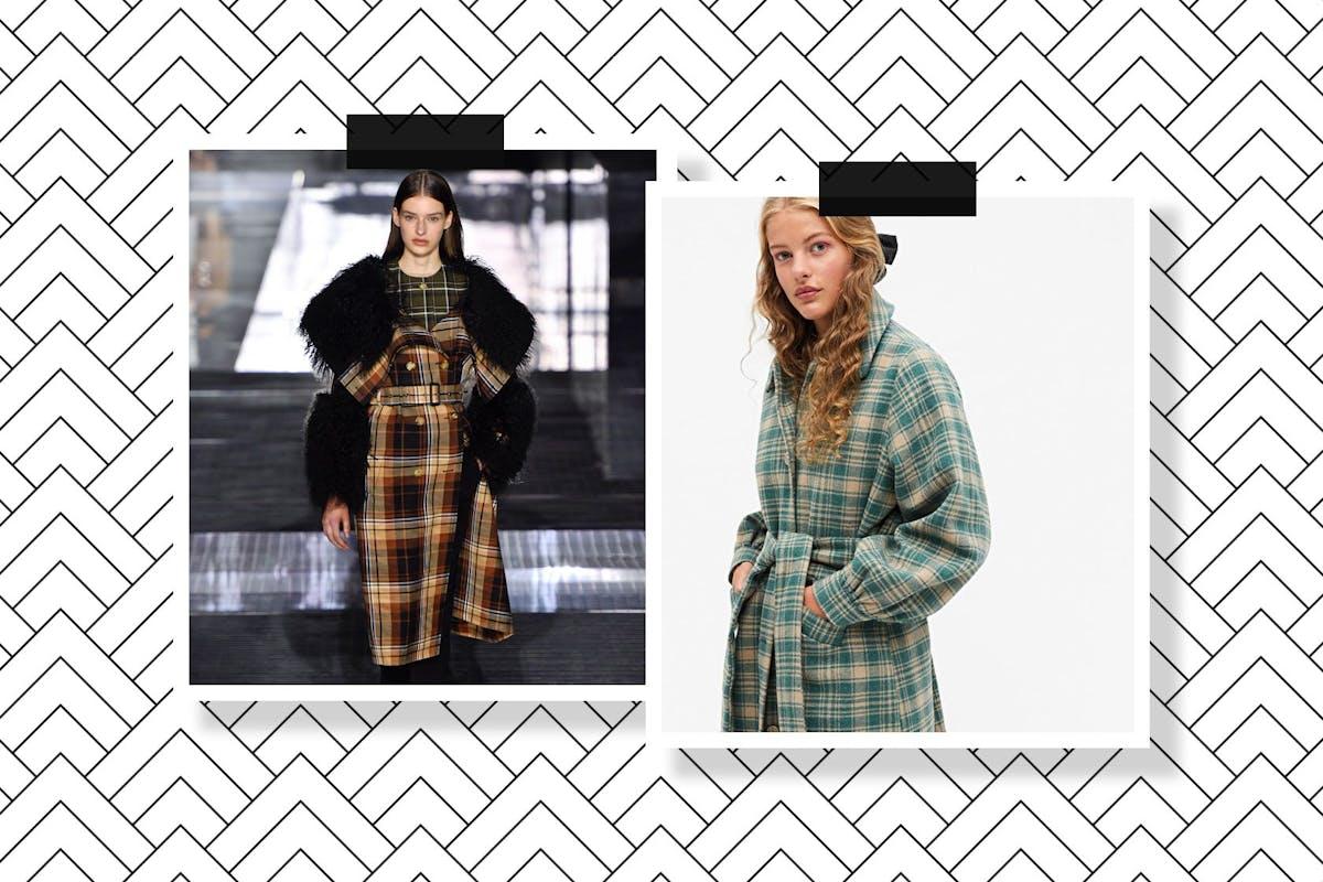 Check coats: Burberry / Monki