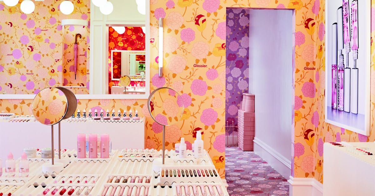 Glossier's London pop-up has arrived – here's your first look at its floral interior