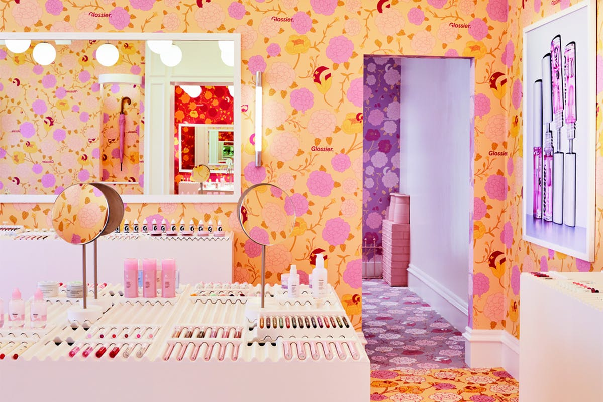 Glossier's floral-themed London pop-up is finally here – get your first look at its interior