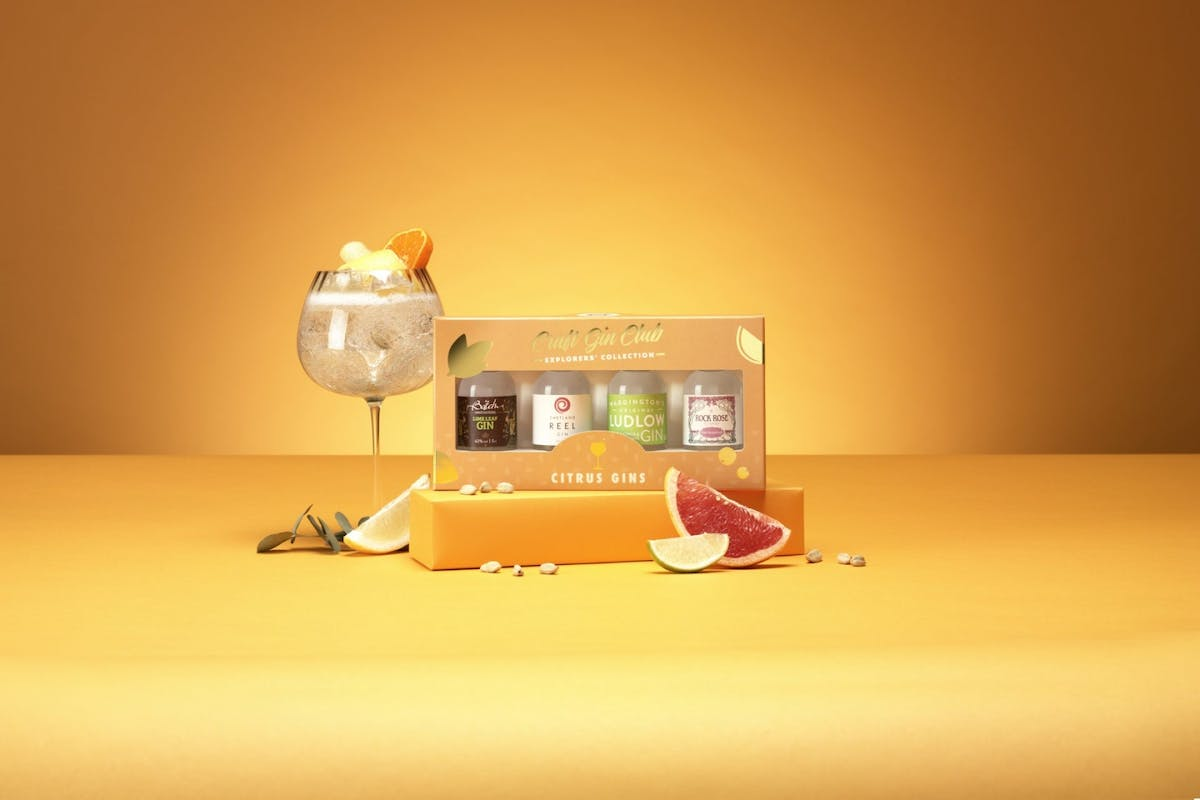 Citrus gin collection from The Craft Gin Club