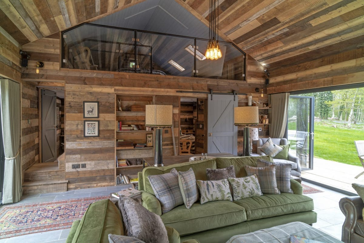 Indulge in Swiss chalet chic at a cabin in the countryside