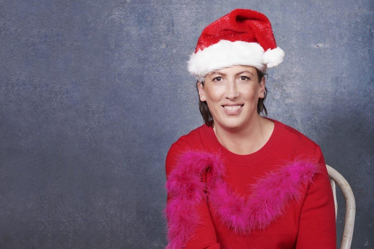 Miranda Hart Santa hat