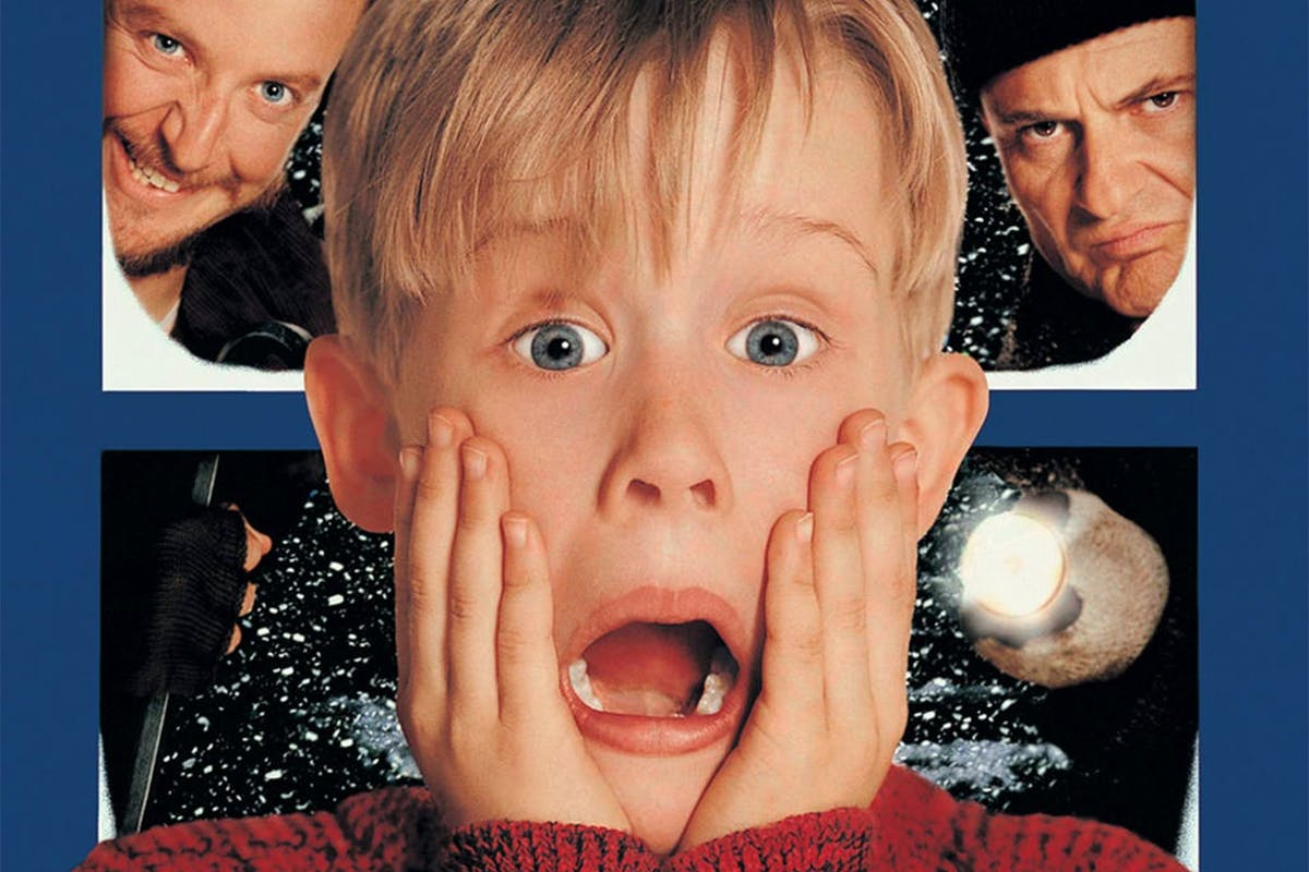 Home Alone movie poster featuring Macaulay Culkin as Kevin McCallister