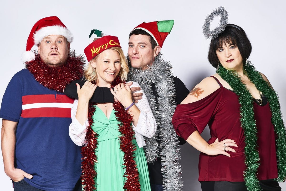 Gavin & Stacey Christmas special: James Corden, Joanna Page, Matthew Horne and Ruth Jones.