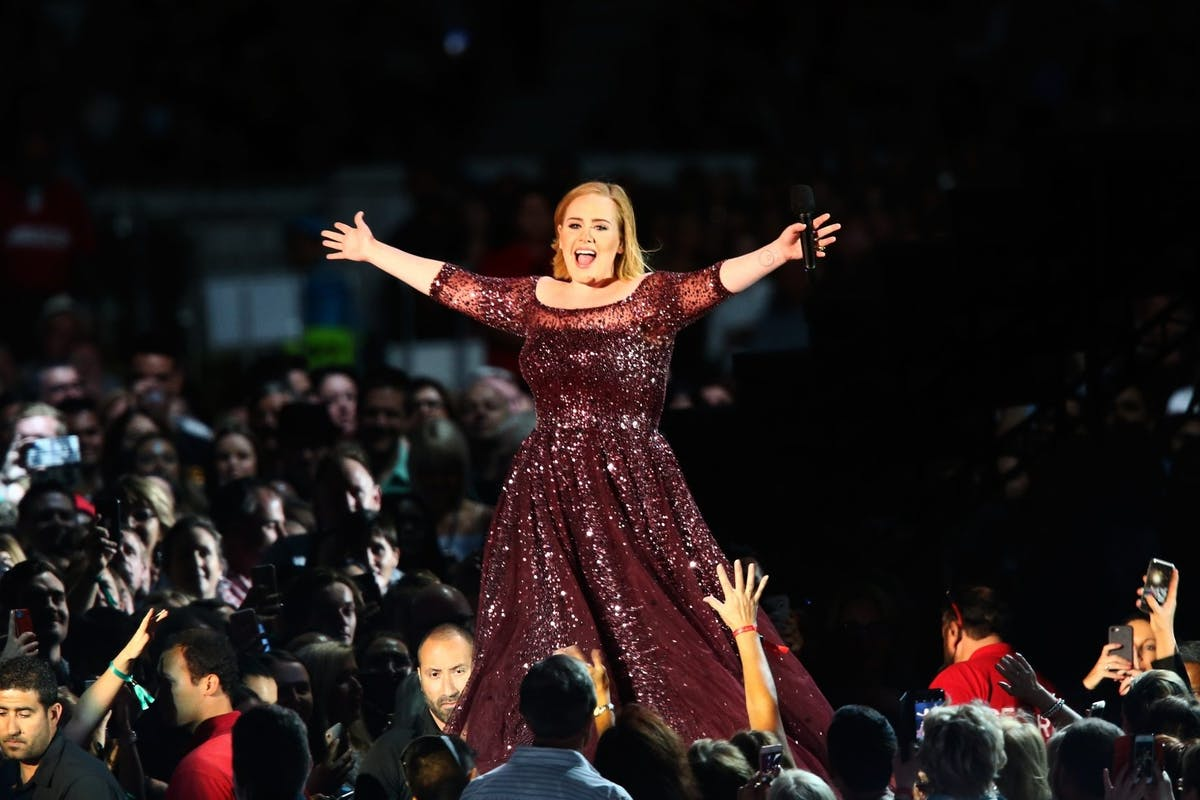 Adele has released photos from her Christmas party.
