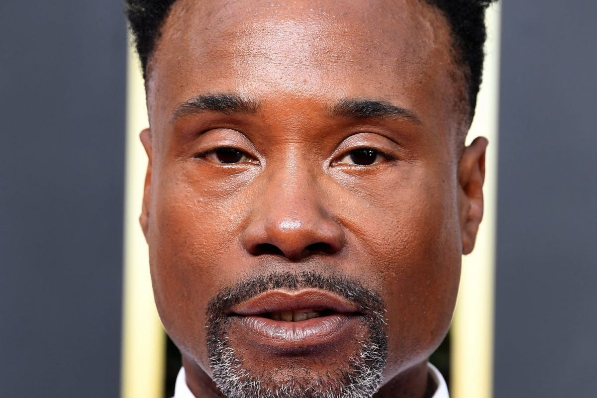 Billy Porter at the Golden Globes.