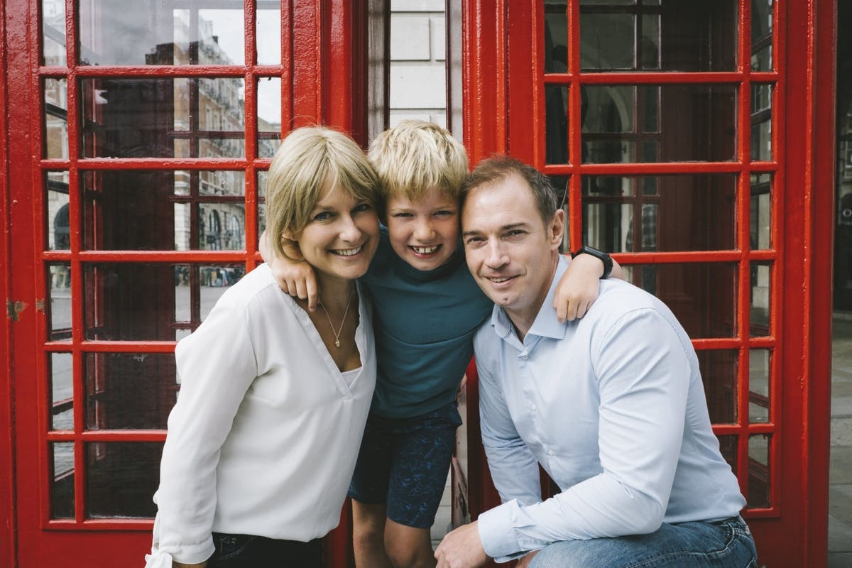 How to really live in the moment, by someone with terminal cancer: Sarah Lloyd with her husband, Billy, and their son, James