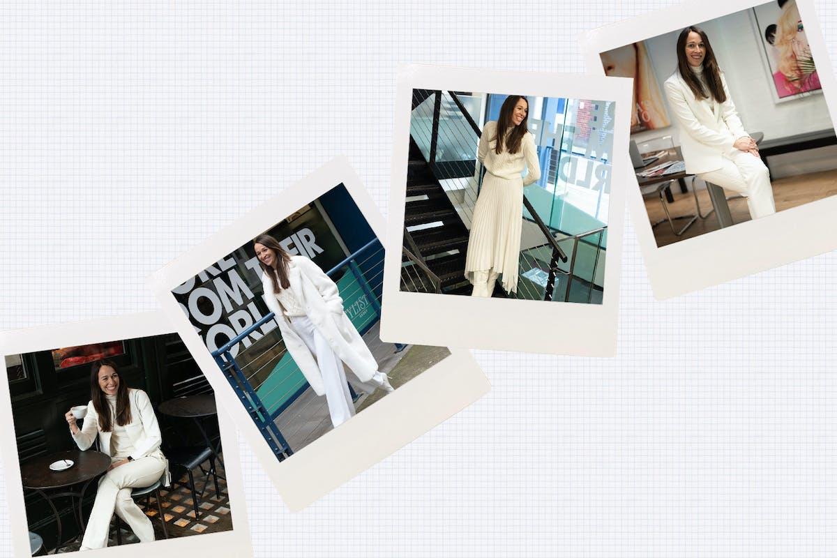 All white clothes: Lisa Smosarski trials 2020's winter whites fashion trend