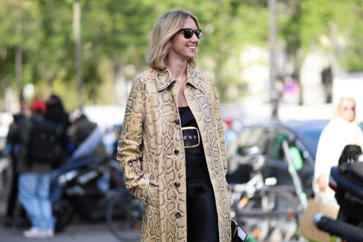Lisa Aiken wearing Bottega Veneta coat