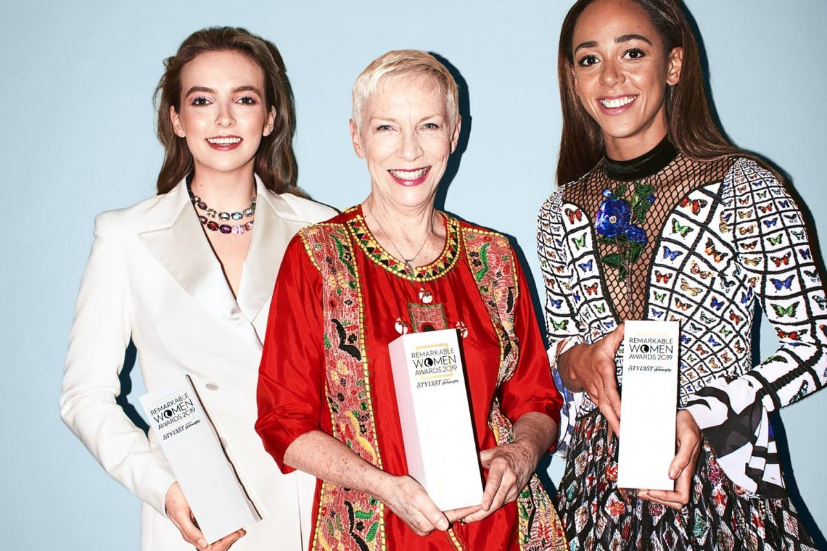 JODIE COMER, ANNIE LENNOX AND KATARINA JOHNSON- THOMPSON AT THE 2019 REMARKABLE WOMEN AWARD