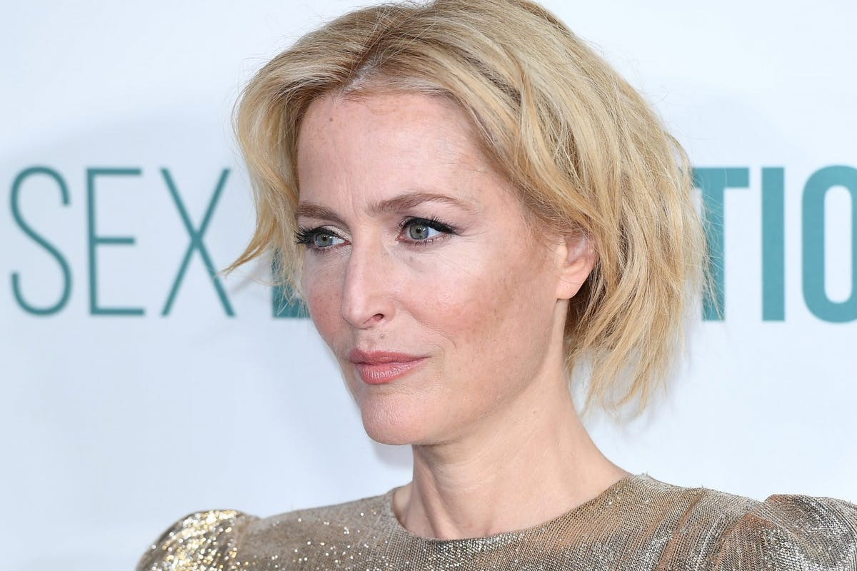 Gillian Anderson on the red carpet for Sex Education season two