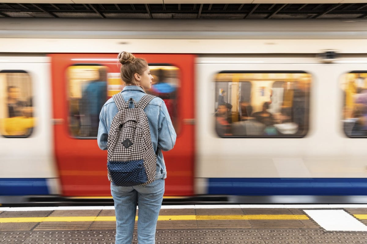 A woman waiting for the London underground