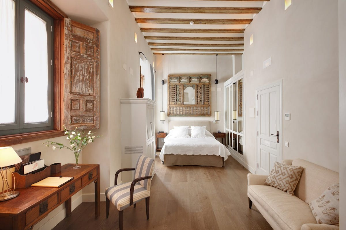 Junior suite at Corral Del Rey hotel in seville, converted palace