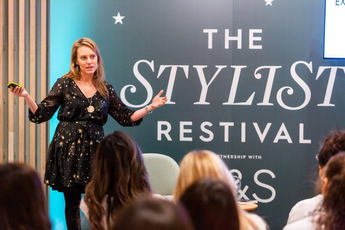 Lisa Sanfilippo on stage at Stylist's Restival