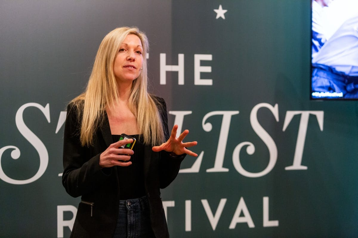 Keris Marsden talking about sleep and nutrition at Stylist's Restival.