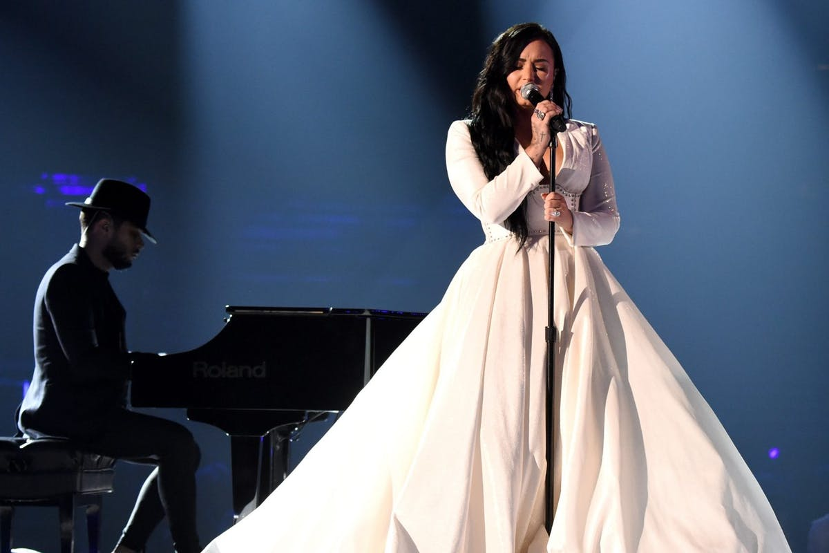 Demi Lovato performs at the 2020 Grammys