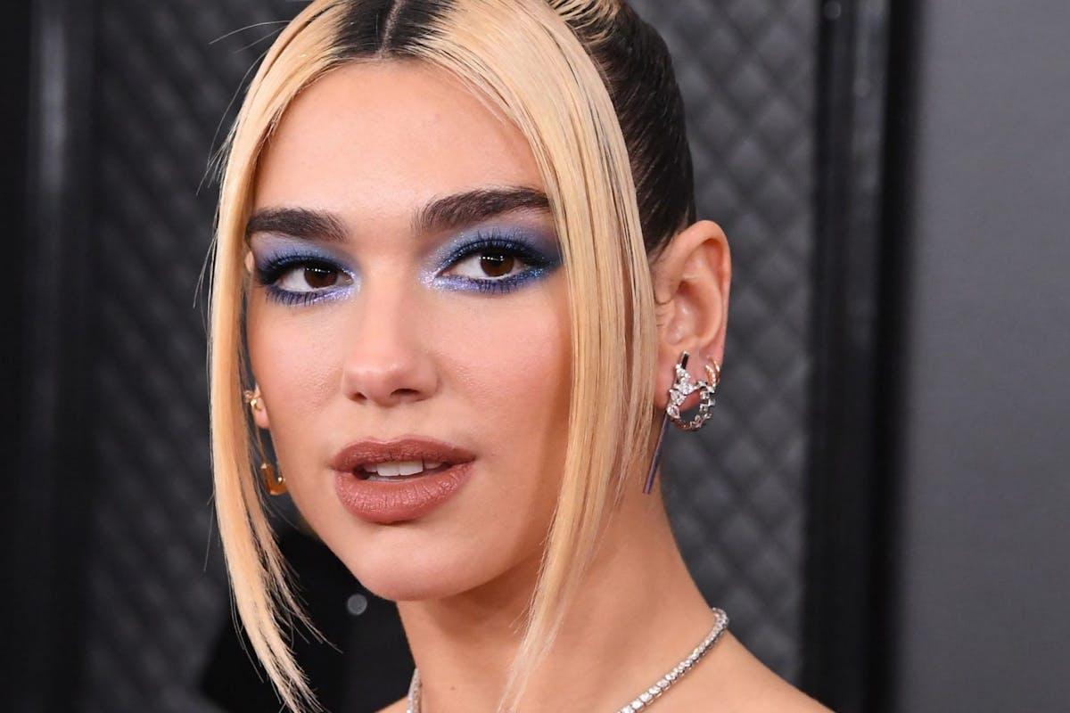 Dua Lips 2020 Grammys blue eyeshadow