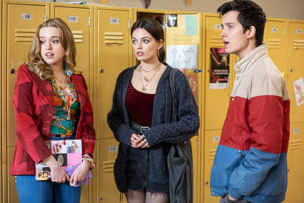 Aimee, Maeve and Otis in Sex Education Season Two.