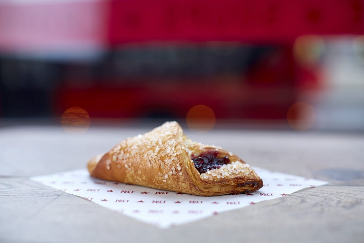 The vegan Very Berry Croissant from Pret