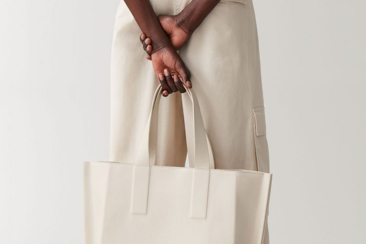 Best tote bags to shop now: Cream leather tote Cos