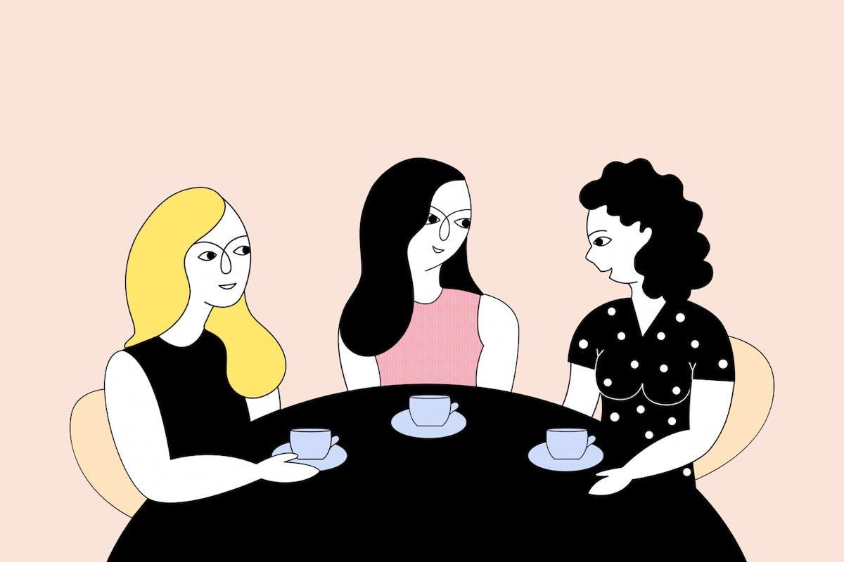 3 women starting a conversation about mental health