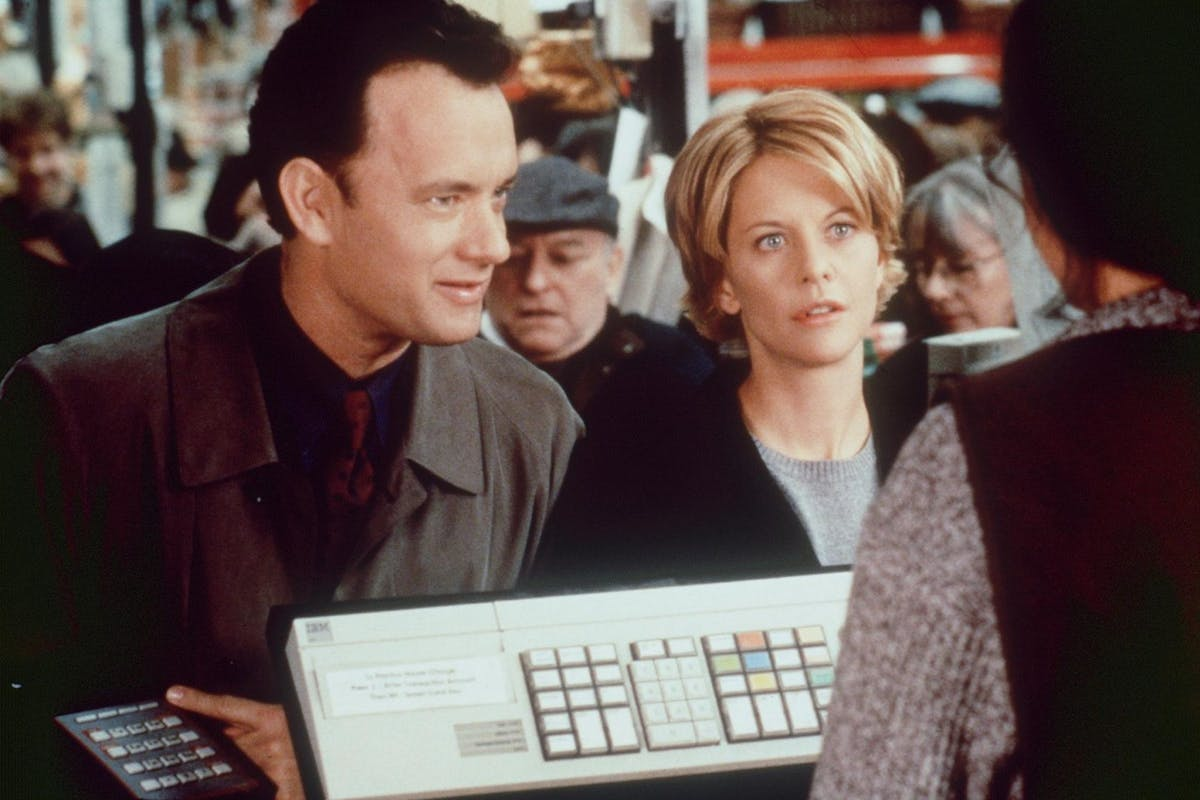 """You've Got Mail: Tom Hanks and Meg Ryan in a scene from """"You''ve Got Mail."""""""