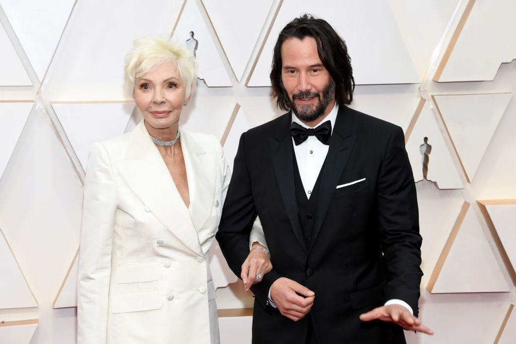 Keanu Reeves and his mum, Patricia Taylor, at the 2020 Oscars.