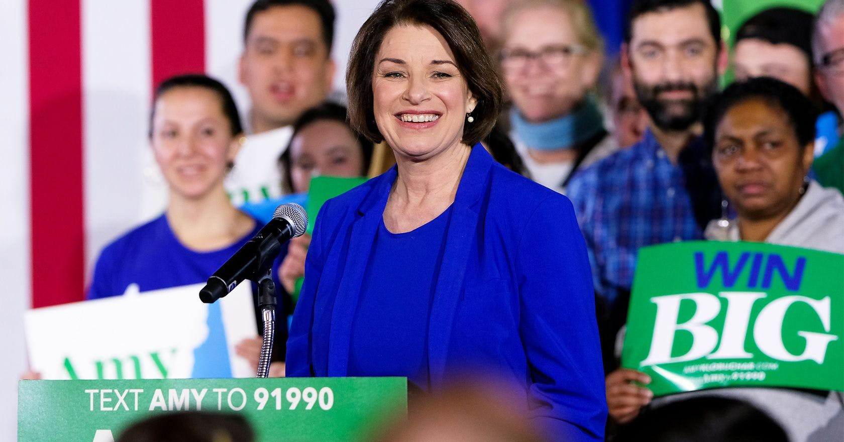 We could still have a female president in 2020, and her name is Amy Klobuchar