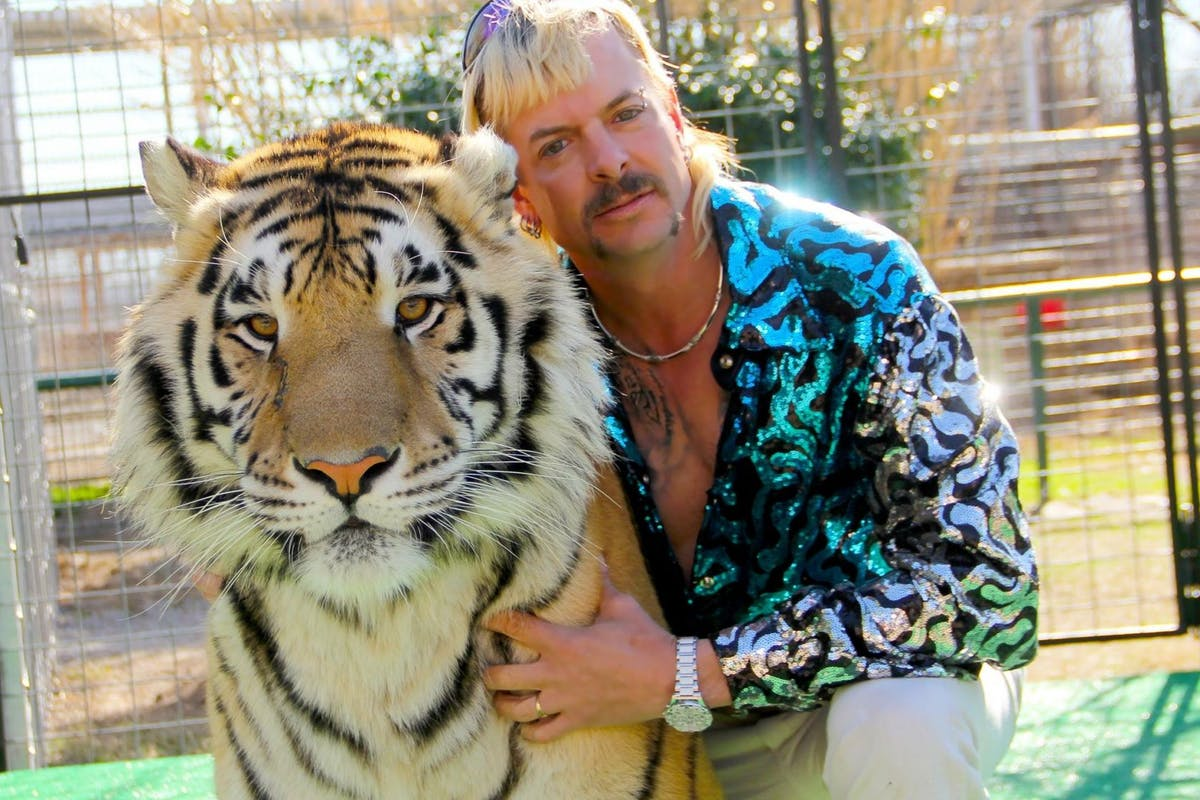 Joe Exotic, as seen in the poster for Tiger King.