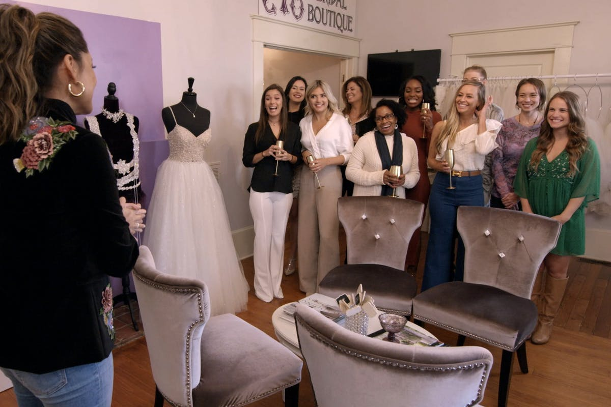 The women from Love Is Blind on Netflix choose their wedding dresses