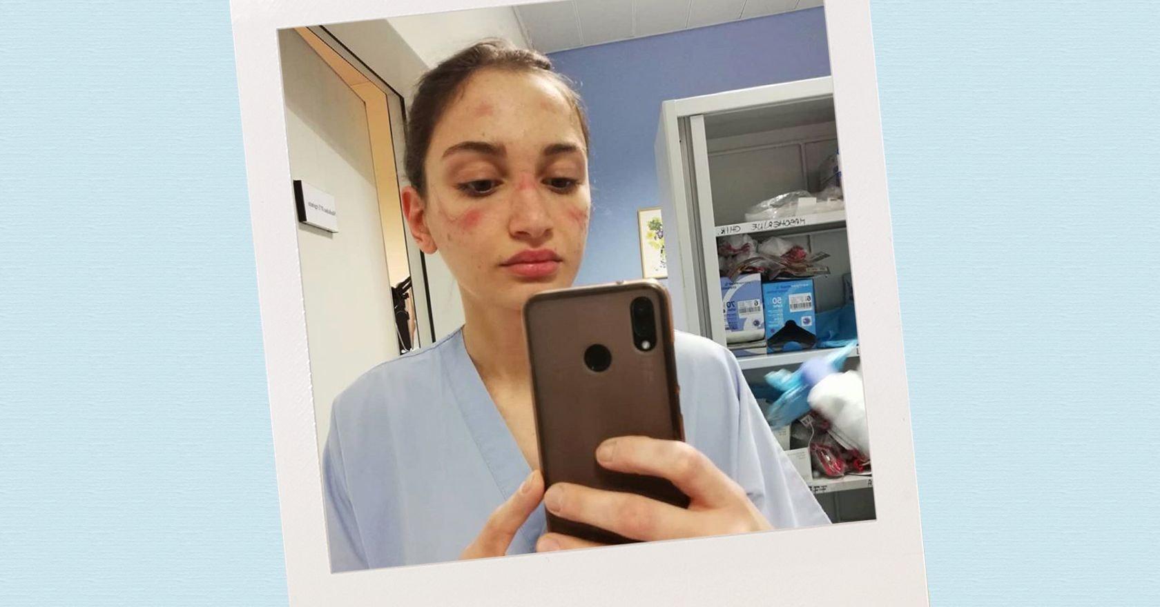italian nurse u0026 39 s powerful  u0026quot coronavirus selfie u0026quot  goes viral