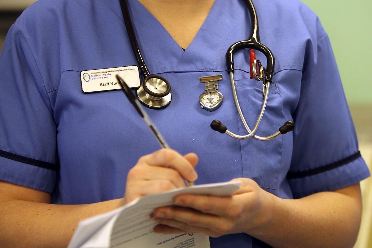 NHS workers mugged.