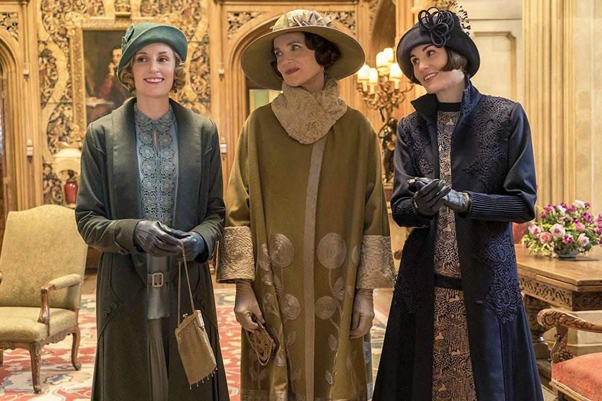 Laura Carmichael, Elizabeth McGovern and Michelle Dockery star in Downton Abbey.