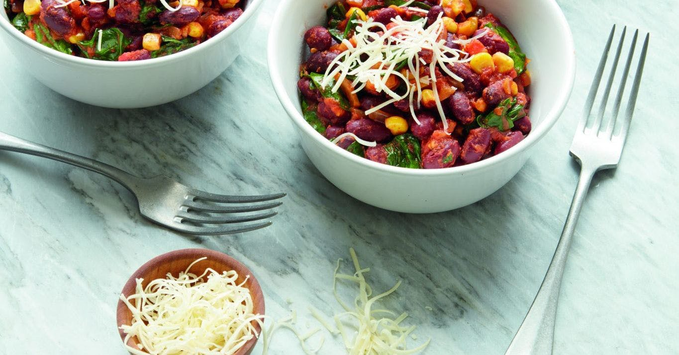 Muscle-building vegetarian chilli recipe