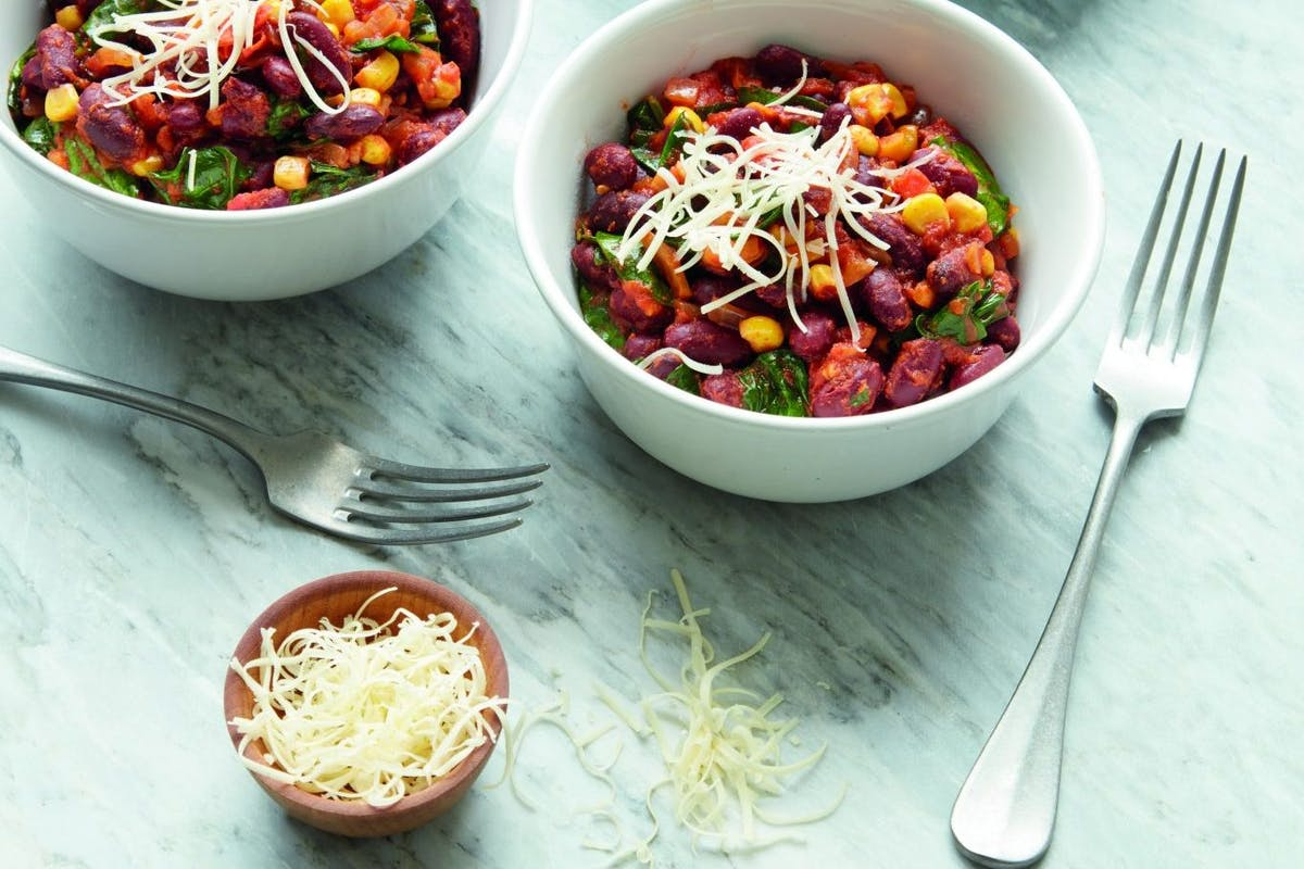 Quick vegetarian chilli recipe from Vegetarian Meals In 30 Minutes by Anita Bean